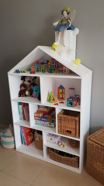Dollhouse storage shelf
