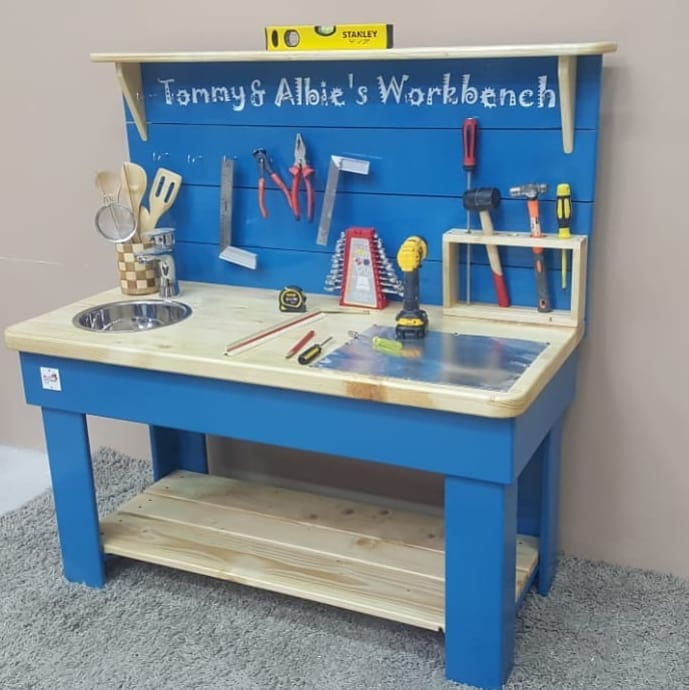 Workbench & Mud kitchen combination with faucet