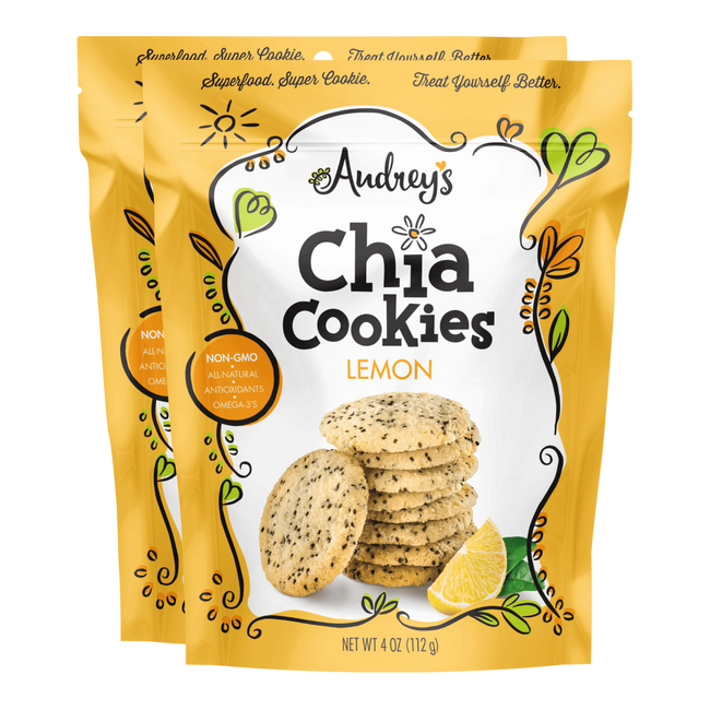 Audrey's Chia Cookies Lemon Healthy Snacks - 2-pack