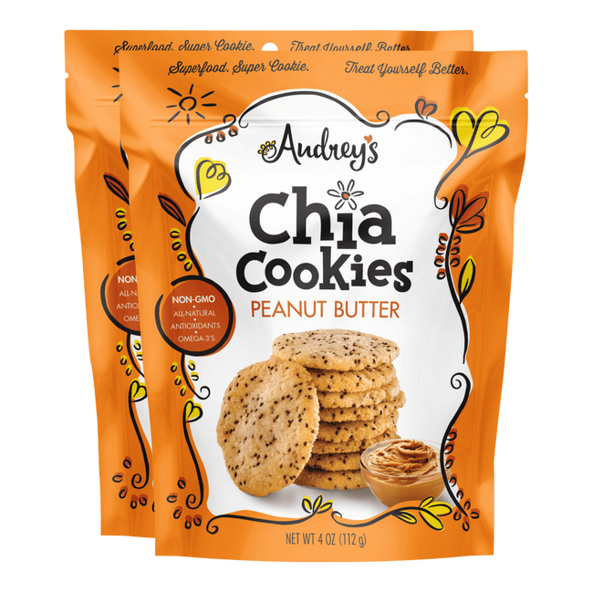 Peanut Butter Audreys Chia Cookies 2-pack