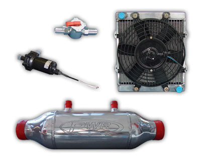 PWR LIQUID TO AIR BARREL INTERCOOLER KIT