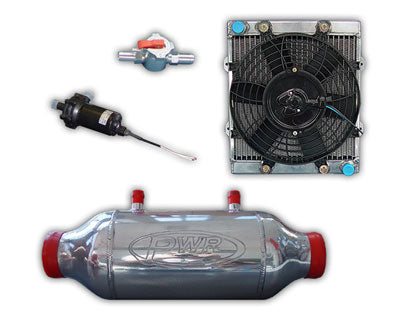 "PWR5219 - 6"" (D) x 8"" (L) - Liquid to Air Barrel Intercooler Kit"