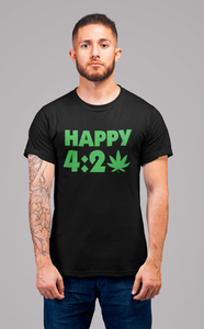Black Happy 4:20 T-shirt