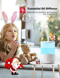 Homasy 2.5L Humidifiers with 7-Color Night Lights, BPA free Top Filling Cool Mist Humidifier Diffuser for Kids, 25dB Humidifiers for Bedroom with Sleep Mode, 30H Run-Time, Auto Shut Off, All White