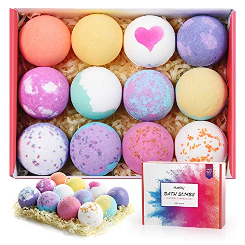 Homasy 12 Pcs Bath Bomb Gift Set