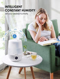 Homasy 4.5L Top Filling Humidifier for Bedroom, Essencial Oil Diffuser, Air Humidifier with Customized Humidity & Timer, Touch Control and LED Display