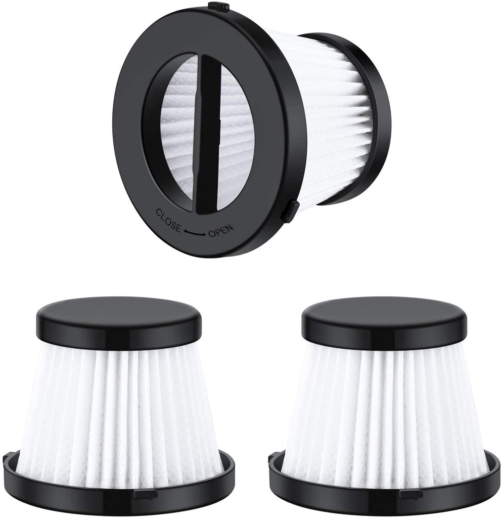 3 Pack Replacement Vacuum HEPA Filters Compatible with Hommak HM611 Handheld Vacuum Cleaner, Washable and Reusable