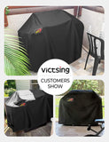 VicTsing Grill Cover, 600D Heavy Duty 58-Inch Waterproof BBQ Cover for Weber, Holland, Jenn Air, Brinkmann & Char Broil, Weatherproof & Rip Resistant