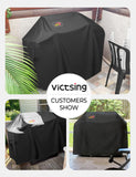 VicTsing Grill Cover, 64-Inch Waterproof BBQ Cover, 600D Heavy Duty Gas Grill Cover for weber,Brinkmann, Char Broil, Holland and Jenn Air(UV & Dust & Water Resistant, Weather Resistant, Rip Resistant)