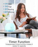 Homasy Essential Oil Diffuser, 500ml Aroma Diffuser Humidifier for Large room with Timer, Fragrant Oil Humidifier Vaporizer with 8 LED Colors and Waterless Auto Shut-off for Home Kitchen Bedroom