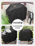 VicTsing 60 inch BBQ Grill Cover, 600D Heavy Duty Waterproof Gas Barbecue Covers for Outdoor Grills Weber Brinkmann Holland Char-Broil etc (Fade Sun & Rip-Resistant)