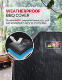 VicTsing Grill Cover, Waterproof BBQ Cover, 600D Heavy Duty Gas Grill Cover for Weber, Brinkmann, Char Broil, Holland and Jenn Air (Dust & Water Resistant, Weather Resistant, Rip Resistant)