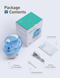 Homasy VicTsing 2.2L Humidifiers, Cool Mist Humidifier for Home and Office, 28dB Whisper-Quiet Air Humidifier for Baby, Auto Shut-Off and Night Light, up to 30 Hours Run Time