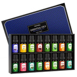 Homasy Essential Oils Gift Set (16Pcsx5ml), Top 16 Natural Aromatherapy Essential Oil Set, Essential Fragrance Oil Set for Diffuser, Humidifier, Include Lavender, Tea Tree, Sweet Orange, More