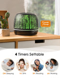 Homasy Essential Oil Diffuser, 500ml Premium Iron Aroma Diffuser, 2 Mist Modes, Whisper-Quiet Humidifier with 4 Timer, Waterless Auto-off for Home, Office, Bedroom