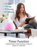 Homasy Essential Oils Diffuser with Top 6 Oils Set, Aromatherapy Oil Diffuser with 8 Color Light, Room Diffusers with 4 Timers for Home/Office- White