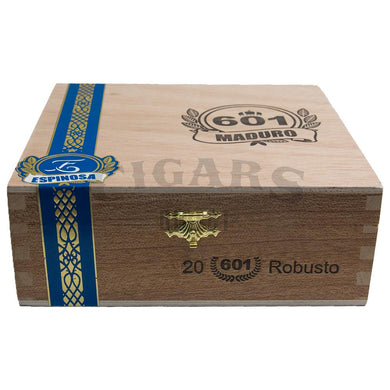 601 Blue Label Maduro Robusto Box Closed
