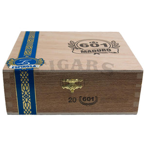601 Blue Label Maduro Toro Box Closed