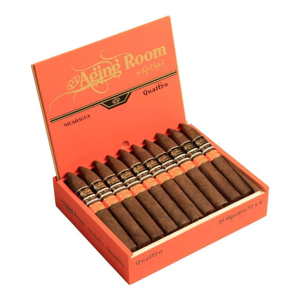 Load image into Gallery viewer, Aging Room Quattro Nicaragua Maestro Torpedo Open Box