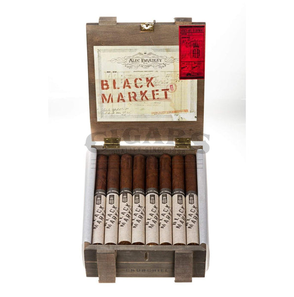 Load image into Gallery viewer, Alec Bradley Black Market Churchill Box Open