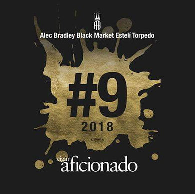 Alec Bradley Black Market Esteli Torpedo 2018 No.9 Cigar of The Year