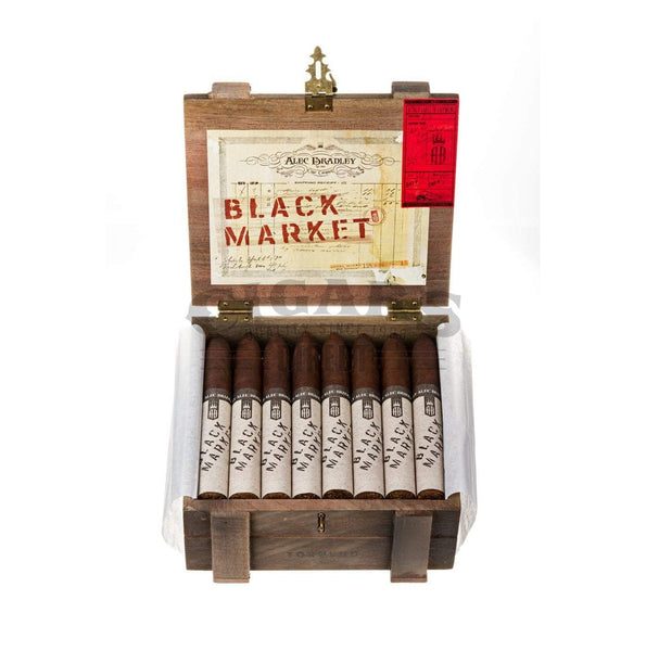 Load image into Gallery viewer, Alec Bradley Black Market Torpedo Box Open