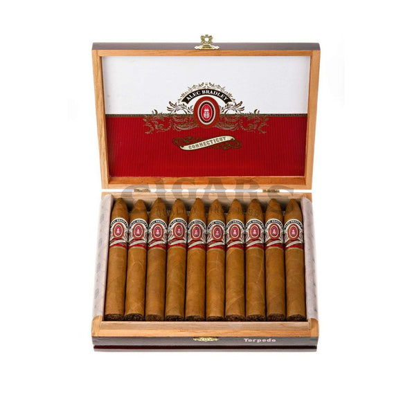 Load image into Gallery viewer, Alec Bradley Connecticut Torpedo Box Open