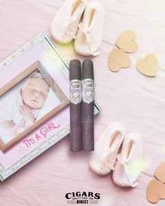Alec Bradley its a Girl Pink Box Art Work