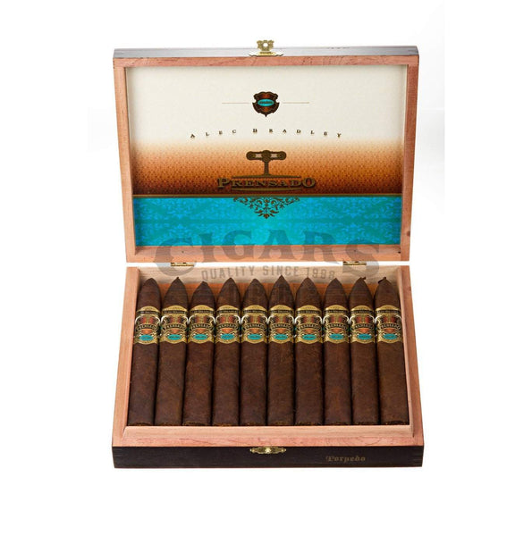 Load image into Gallery viewer, Alec Bradley Prensado Torpedo Box Open