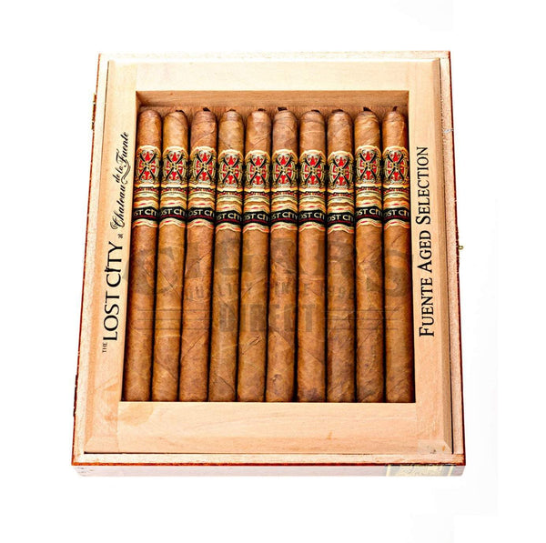 Load image into Gallery viewer, Arturo Fuente Lost City Lancero Box Open