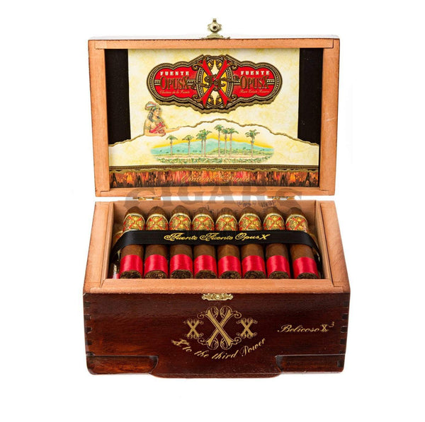 Load image into Gallery viewer, Arturo Fuente Opus X Belicoso Xxx Box Open