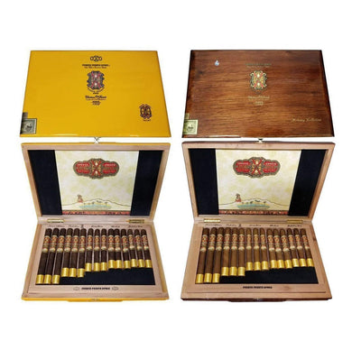 Arturo Fuente Opus X Destino Al Siglo Maduro And Natural Collections Side By Side