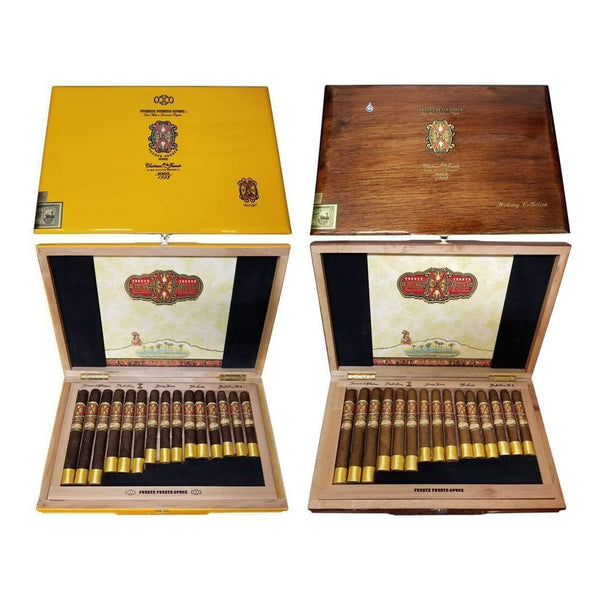 Load image into Gallery viewer, Arturo Fuente Opus X Destino Al Siglo Maduro And Natural Collections Side By Side