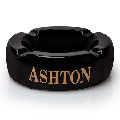 Ashton 4 Cigar Black Ceramic Ashtray Large