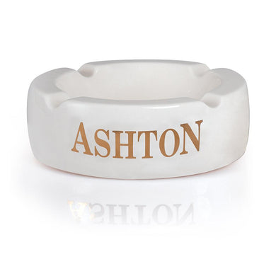 Ashton 4 Cigar White Ceramic Ashtray Large