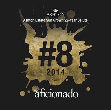 Ashton ESG 22 Yr. Salute Pyramid 2014 No.8 Cigar of The Year