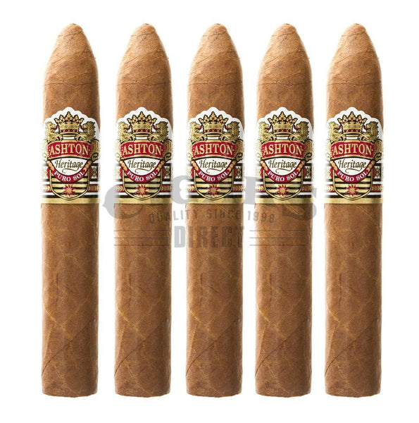 Load image into Gallery viewer, Ashton Heritage Puro Sol Belicoso No2 5 Pack