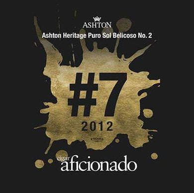 Ashton Heritage Puro Sol Belicoso No.2 2012 No.7 Cigar of The Year