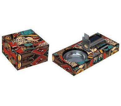 Beat Box Ashtray Set Side by Side