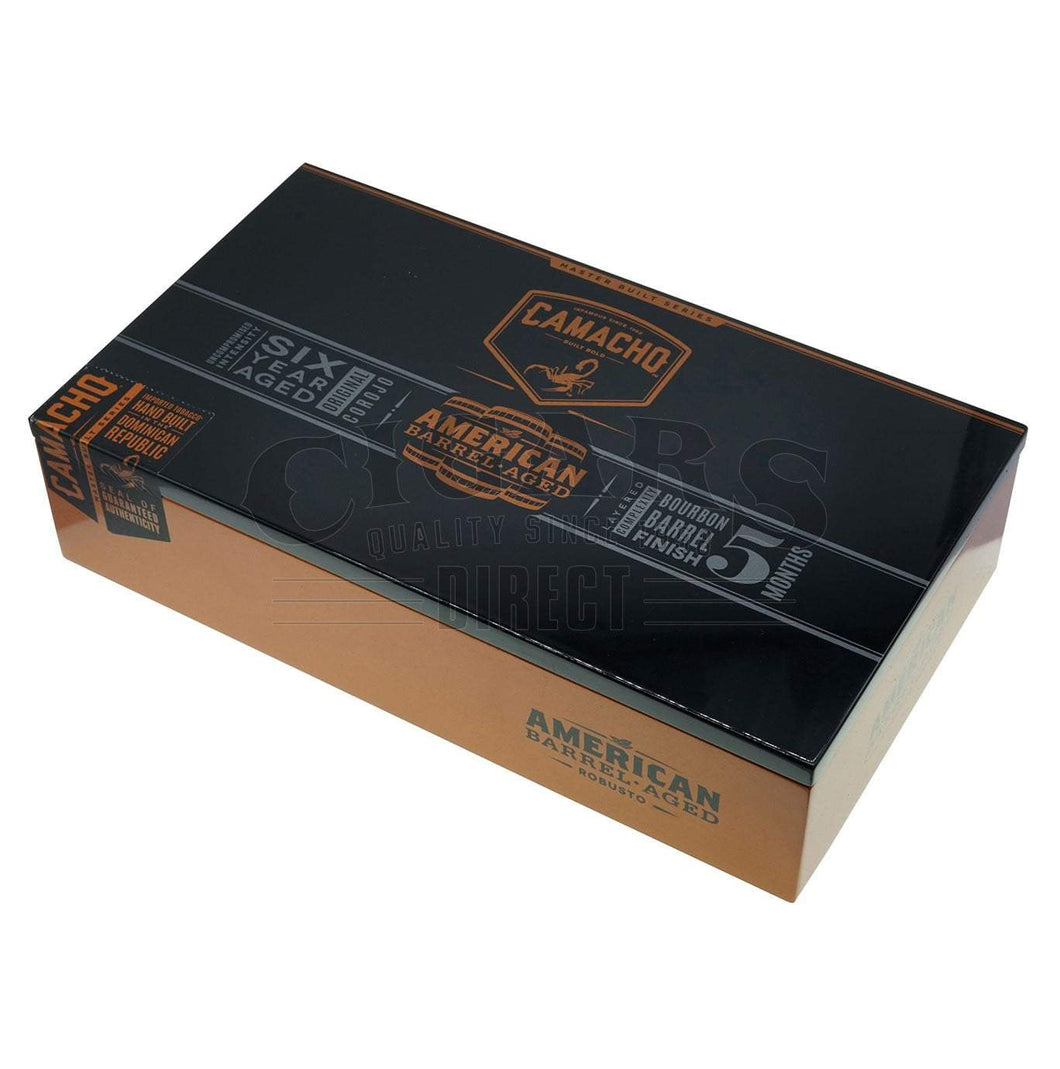 Camacho American Barrel Aged Robusto Box Closed