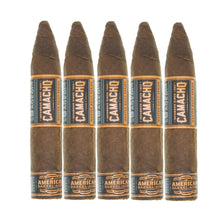 Load image into Gallery viewer, Camacho American Barrel Aged Torpedo Corto 5 Pack