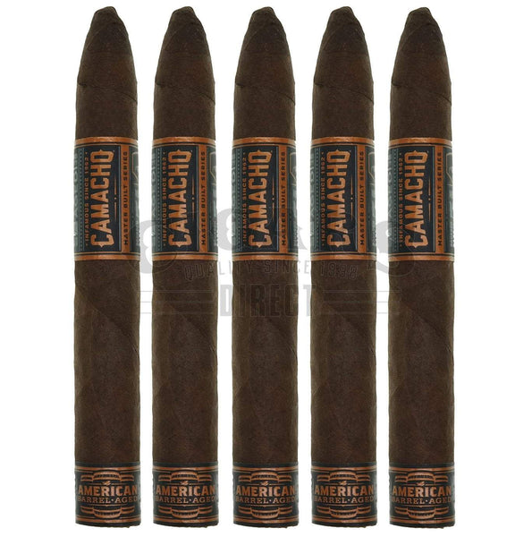 Load image into Gallery viewer, Camacho American Barrel Aged Torpedo Largo 5 Pack