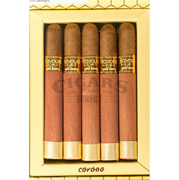 Load image into Gallery viewer, Cao Flavours Gold Honey Corona Box Open