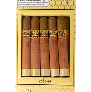 Cao Flavours Gold Honey Robusto Box Open