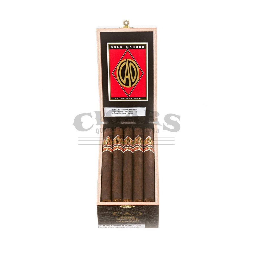 Cao Gold Churchill Maduro Box Open