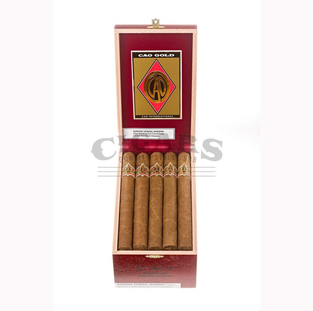 Cao Gold Double Corona Box Open