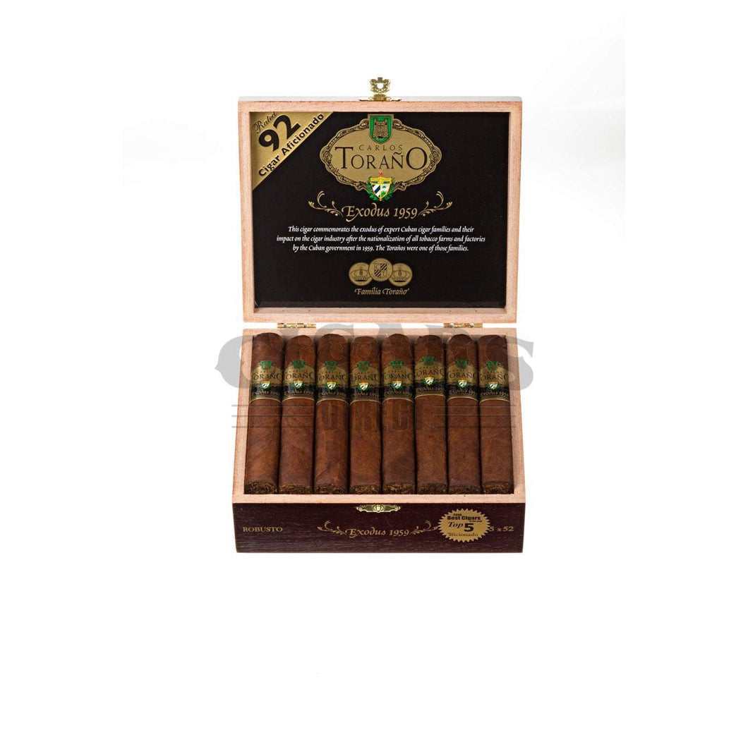 Carlos Torano Exodus Gold 1959 Robusto Box Open