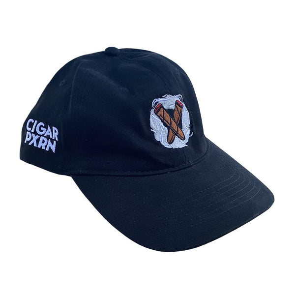 Load image into Gallery viewer, Cigar Pxrn Logo Dad Hat Black