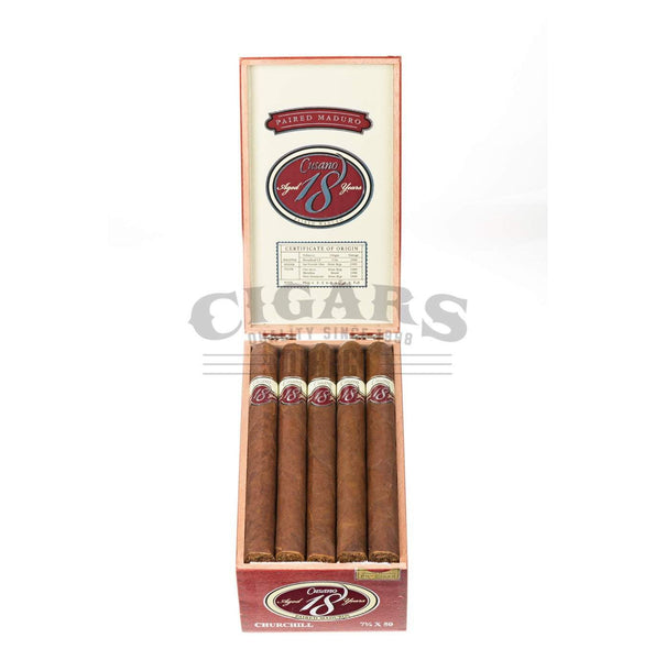 Load image into Gallery viewer, Cusano.18 Paired Maduro Churchill Box Open