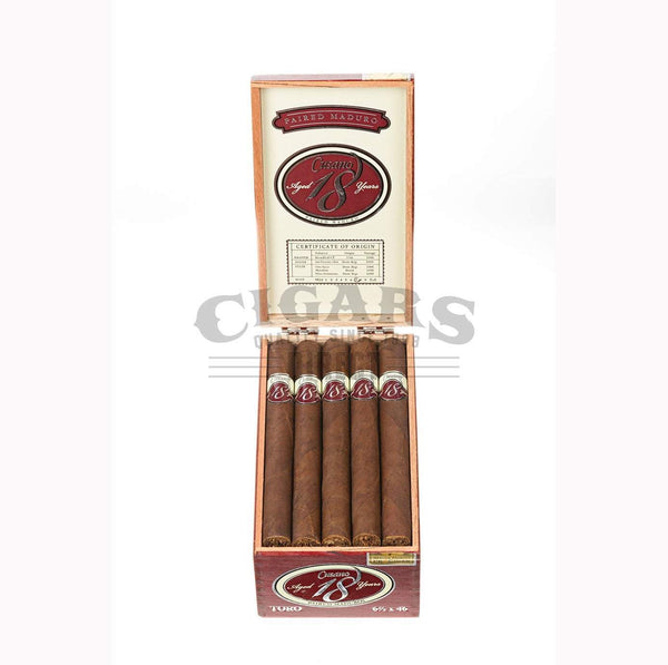 Load image into Gallery viewer, Cusano.18 Paired Maduro Toro Box Open